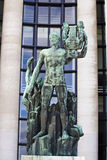 Old green Apollo statue in Paris, France Stock Photos