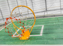 old green basketball board with hoop Stock Image