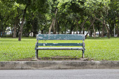 Old green bench Royalty Free Stock Photos
