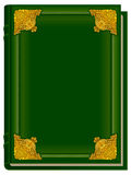 Old green book Koran. Holy Quran. Closed book with golden lining Royalty Free Stock Photography