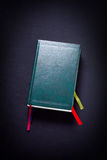 Old green book Stock Photography