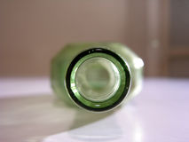 Old green bottle Royalty Free Stock Photos