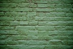 Old green brick wall Stock Photo