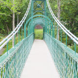 Old green bridge Royalty Free Stock Photo