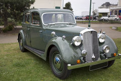 Old green British vintage car Stock Image