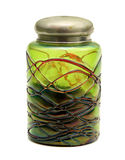 Old green can made of venetian glass. Beautiful old green can made of venetian glass Royalty Free Stock Image