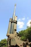 Old green cannon gun. Old historic artillery cannon gun Royalty Free Stock Image