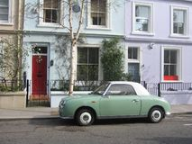 Old Green Car in Portobello Road Stock Images