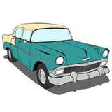 Old Green Car Vector Illustration Royalty Free Stock Photos