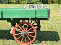 Old green carriage Stock Image