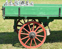 Old green carriage Royalty Free Stock Photos