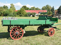 Old green carriage Stock Photography