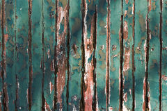 Old Green Chipping Wood Wall Royalty Free Stock Image