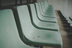 Old green coliseum,old sitting ,tennis court Royalty Free Stock Images