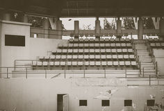 Old green coliseum,tennis court. Old green coliseum background, tennis court Royalty Free Stock Images