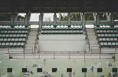 Old green coliseum,tennis court. Old green coliseum background, tennis court Stock Photography