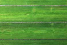 The old green colored wooden texture background with old rope Stock Photos