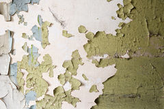 Cracked paint wall Royalty Free Stock Photos
