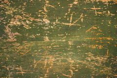 Old green cracked wood background, rustic wooden surface with copy space Stock Image