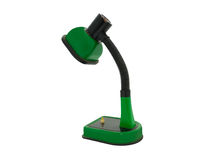 Old green desk lamp Stock Photography