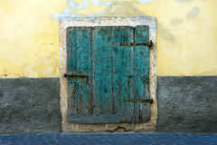 Old green door Stock Photography
