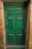 Old green door Stock Photos