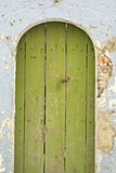 Old green door Royalty Free Stock Photo