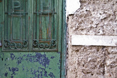 Old green door Royalty Free Stock Images