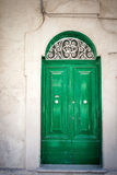 Old green door in Malta. Old green door in Mdina, Malta Stock Photography
