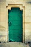 Old green door. Royalty Free Stock Photo