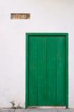 Old green door Royalty Free Stock Image