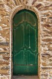 Old green door Stock Photo