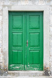 Old green front door Stock Photography