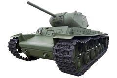 Old green heavy tank Stock Photo