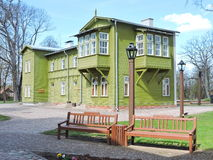 Old green home, Latvia Stock Images