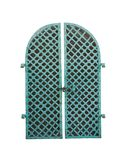 Old green iron door Royalty Free Stock Image
