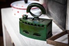 Old green iron Stock Photo