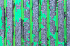 Old green iron wall Stock Images