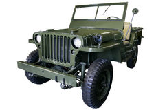 Old green Jeep Stock Image