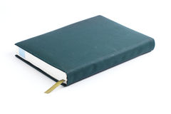 Old green leather notebook Royalty Free Stock Photography