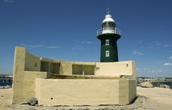 Old green lighthouse at Fremantle Western Australia Royalty Free Stock Photography