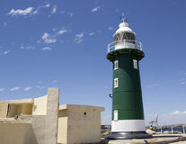 Old green lighthouse at Fremantle Western Australia Stock Photography