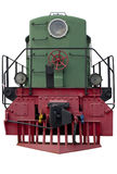 Old green locomotive Royalty Free Stock Images