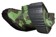 Old green medium tank Stock Photo