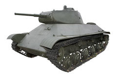 Old green medium tank Royalty Free Stock Image