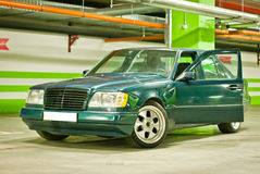 Old green Mercedes Royalty Free Stock Image