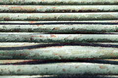 Old green metal bars close-up background Royalty Free Stock Photography