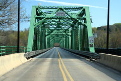 Old green metal bridge Royalty Free Stock Photos