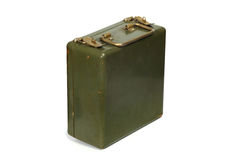 Old green metal case Stock Photo