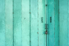 Old Green Metal Folding Doors Background Royalty Free Stock Photo